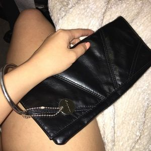 LULU Pleather Wristlet Bag Purse